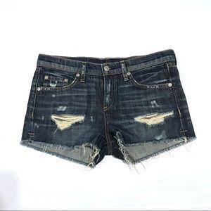 Rag & Bone shorts Sz 26 Jean Denim distressed